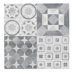 Lofthouse Grey Matt Stone effect Ceramic Wall & floor tile, Pack of Kitchen Wall Tiles, Ceramic Wall Tiles, Bathroom Floor Tiles, Kitchen Flooring, Tile Floor, Porcelain Tile, Patterned Wall Tiles, Tiles Uk, Matt Stone