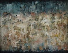 """Oil...abstract expressionism  """"Midnight Wandering""""  11"""" x 14"""""""