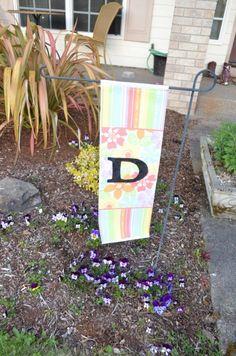 Tutorial: Monogram Garden Flag