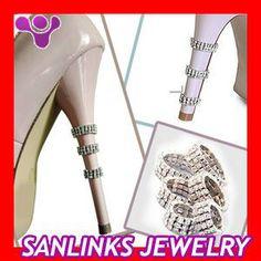 Shoe Jewelery Metal Crystal Heel Rings Shoe Clips $0.50~$3.20