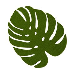 Bring warm and sunny vibes to the dinner table with this Merino wool monstera leaf.