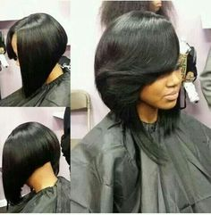 Beauty #bob #haircut #hairstyle. To learn how to grow your hair longer click here - http://blackhair.cc/1jSY2ux