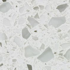 White recycled glass countertop, instead of marble