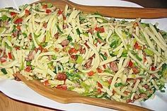Hearty spaetzle salad (recipe with picture) by Kuschellenny Salad Dressing Recipes, Easy Salads, Healthy Salad Recipes, Macaroni Salad, Great Appetizers, Summer Recipes, Food And Drink, Cooking Recipes, Ethnic Recipes