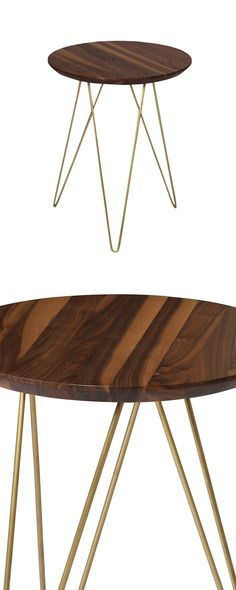 Get in touch with the nature lover within and bring a bold statement into a contemporary casual space. The Graham Hill Accent Table plays up the best of earth-centered materials and chic metal. Its bas...  Find the Graham Hill Accent Table in Walnut, as seen in the A Modern Bohemian Abode Collection at http://dotandbo.com/collections/a-modern-bohemian-abode?utm_source=pinterest&utm_medium=organic&db_sku=112480