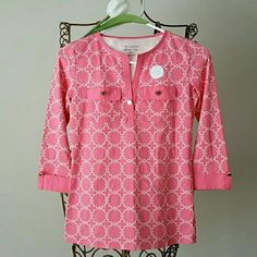 Lowest.TOPS 100% COTTON New never worn Beautiful brand new top.  Measures from top shoulder to hem  24 inch. 100% Cotton  First picture only model. Smoke and pet free household. Happy shopping and have a very blessed day. Tops Blouses