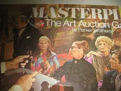 1970 Masterpiece Board Game Art Auction by GlamourGirlsLingerie, $90.00