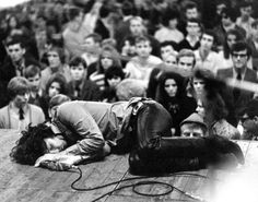 Jim Morrison of The Doors passed out on stage during a 1968 performance in Frankfurt.