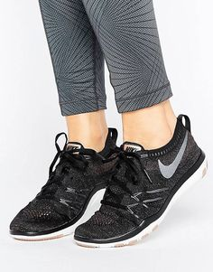 outlet store 1d47f b4635 Nike Training Free TR Focus Flyknit Trainers Black High Top Sneakers, New  Sneakers, Sneakers