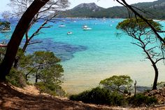 Notre-Dame beach, on island of Porquerolles, westernmost of the 3 islands of Hyères, in the Var.