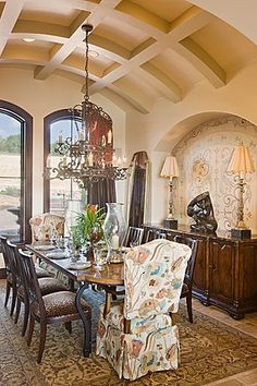 barrel ceiling dining room   like the coffered barrel ceiling for the banquette area and possibly ...