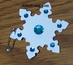 Girl Scout Swaps aka special whatchamacallits affectionately pinned somewhere - winter snowflake