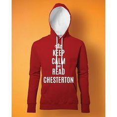 Stampa Felpa Uomo #chesterton #frassati #distributismo #KEEP CALM AND READ CHESTERTON