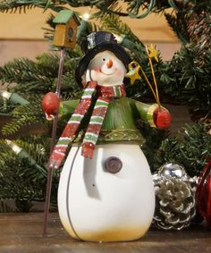 Take a look at this Birdhouse Snowman Figurine by VIP International on #zulily today!