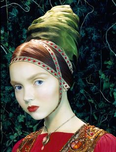 Lily Cole photographed by Miles Aldridge by cindy feng