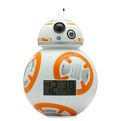 Roll around like everyone's new favorite Droid with this Star Wars BB-8 Bulb Botz Alarm Clock. This clock features an LCD display and different alarm settings, making it a great way to rise in a galaxy far away.