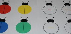 #Ladybug Colors and Color Word Cards Free Printable #preschool #kindergarten