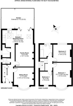 Check out this property for sale on Rightmove! Floorplan with ground floor utility and ground floor wc Kitchen Extension With Utility Room, Kitchen Extension Floor Plan, 1930s House Extension, House Extension Plans, House Extension Design, Rear Extension, Kitchen Floor Plans, Extension Ideas, Extension Designs