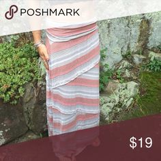 Maxi skirt Gray pink and orange maxi Skirts Maxi