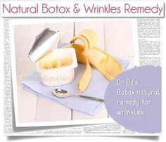 Dr. Oz's DIY Natural Botox Face Mask – Natural Anti-Wrinkle Mask With Bananas | Beauty and MakeUp Tips