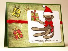 The Christmas Sock Monkey