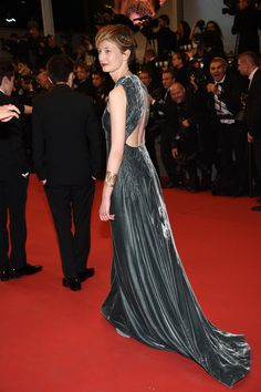 Alba Rohrwacher in a Valentino Haute couture gown from the Spring/Summer 2015 collection while attending the 'Il Racconto dei Racconti' premiere, during the 68th Annual Cannes Film Festival, on May 14th, 2015.