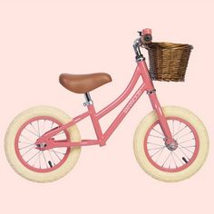 Balance Bicycle, Toddler Bike, Go Pink, Coral Pink, Push Bikes, Kids Bicycle, Baby Bicycle, Retro Kids, Project Nursery