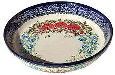 Polish Pottery Dish Pie Plate 10 From Zaklady Ceramiczne Boleslawiec 879237 Art Signature Unikat Pattern Diameter 10 -- Want additional info? Click on the image.(This is an Amazon affiliate link and I receive a commission for the sales)