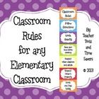 Classroom Rules - Cute Polka Dots These rules match the other items in my 'Cute Polka Dots' collection. So cute!!  Sure to brighten up your classroom. $2