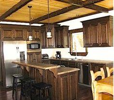 Cottage with wooden ceiling beams  https://www.facebook.com/leovandesign/
