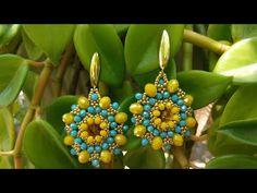 Seed Bead Earrings, Beaded Earrings, Beaded Bracelets, Simple Jewelry, Diy Jewelry, Jewelry Making, Jewelry Patterns, Beading Patterns, Earring Tutorial