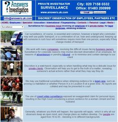 #Surveillance takes many forms – by car, on foot, trains, tubes and buses – see the Private Eyes at http://www.answers.uk.com/services/surveillance.html T:01483 200999 Answers Investigation http://www.answers.uk.com