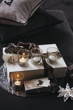 Beautiful Christmas votives from DayHome Beautiful Christmas, Table Settings, Day, Interior, Collection, Home Decor, Decoration Home, Room Decor, Design Interiors
