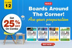 Ace your Class 12 #boards with #CBSE champion series consists of Chapter wise – Topic wise questions of past 10 years along with #graphicalanalysis that gives maximum benefit when used since session's beginning. Math Books, Science Books, Biology Class 12, Hindi Books, Math Practices, English Book, Mathematics, Chemistry, 10 Years