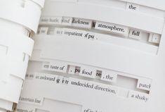 Figure Image of Jonathan Safran Foer's Tree of Codes (via Visual Editions). Jonathan Safran Foer, Wayne Mcgregor, Poesia Visual, Contemporary Ballet, Buch Design, Publication Design, Book Layout, Sale Poster, Texts