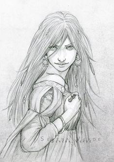 Portrait Commission: Romy by NadezhdaVasile.deviantart.com on @deviantART