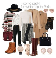 """Urban winter trip"" by andrea-behunova on Polyvore featuring Janessa Leone, Balmain, Loeffler Randall, IRO, Christies à Porter, A.L.C., Henri Bendel, Ray-Ban, self-portrait and Rupert Sanderson"