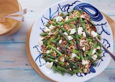 Farro Salad with Asparagus, Peas and Feta... yet another way to enjoy fresh, in season asparagus!