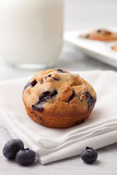Treat the one you love to breakfast in bed this Valentine's Day! Try this recipe for Blueberry Muffins. I The Culinary Institute of America