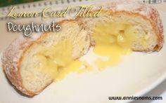 Lemon Curd Filled Doughnuts | Annie's Noms