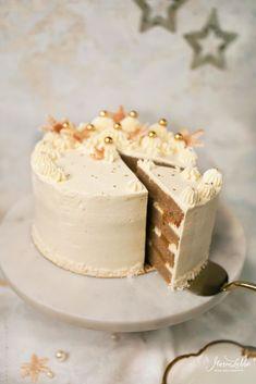 Eggnog-Orangen Torte - Maren Lubbe - Feine Köstlichkeiten Eggnog Rezept, Food Design, Food Styling, Food Art, Vanilla Cake, Gifts For Friends, Christmas Time, The Best