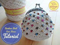 pas a pas en images - Crochet Passion Coin Purse Pattern, Coin Purse Tutorial, Crochet Coin Purse, Pouch Pattern, Crochet Shoes, Purse Patterns, Crochet Purses, Bead Crochet, Diy Crochet