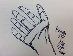 9 - Sharpie - Contour Line Drawing Using Left Hand