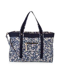 Blossom Flower Weekender Bag | Navy | Accessorize