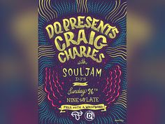 Poster for Sunday Event @ DQ | Tramlines 2015 by Louis Louis