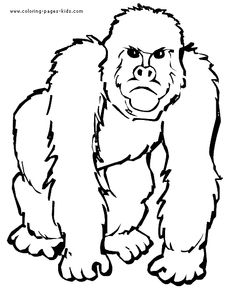 Mad Gorilla Color Page Animal Coloring Pages For Kids Thousands Of Free Printable