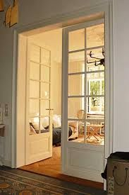 Interior french doors add a beautiful style and elegance to any room in your home. Double Doors Interior, Interior Windows, Door Design, House Design, Attic Bedrooms, Farmhouse Remodel, Room Doors, Style At Home, Home Staging