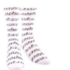 James Fiallo music notes Patterned Dress Socks M5800