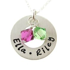 Hand Stamped Jewelry  CIRCLE OF LOVE Small  by jcjewelrydesign, $41.00