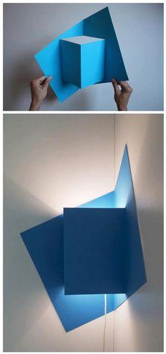 DIY lampara de carton